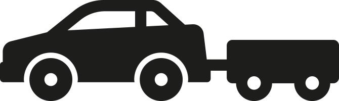 Auto mit Anhänger bis
