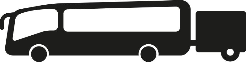 Bus mit Anhänger